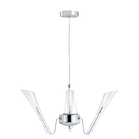 Kichler Lighting 1114 CH Capetto Collection Three Light Hanging Chandelier in Polished Chrome Finish