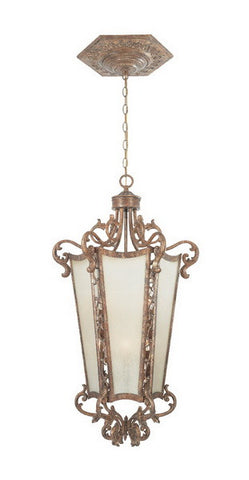 Designers Fountain Lighting 98552 VLG Torino Collection Six Light Hanging Pendant Chandelier in Valenica Gold Finish - Quality Discount Lighting