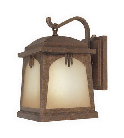 Designers Fountain Lighting ES21031 VBR Casa Grande Collection One Light Energy Efficient GU24 Exterior Wall Lantern in Venetian Bronze Finish - Quality Discount Lighting