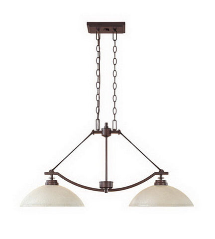 Designers Fountain Lighting 81638 TU Harlow Collection Two Light Hanging Island Chandelier in Tuscana Bronze Finish - Quality Discount Lighting