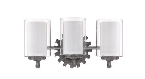 Craftmade Lighting 38603 AGV Prime Collection Three Light Bath Vanity Wall Mount in Aged Galvanized Finish