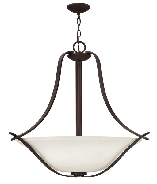 Hinkley Lighting 4062 VZ Lauren Collection Three Light Hanging Pendant Chandelier in Victorian Bronze Finish