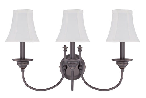 Craftmade Lighting 39663 LB Beaumont Collection Three Light Wall Sconce in Legacy Brass Bronze Finish