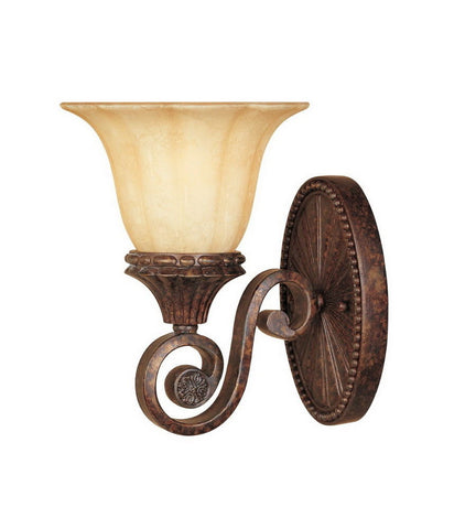 Designers Fountain Lighting 98701 BU Astor Manor Collection One Light Wall Sconce in Burnt Umber Finish - Quality Discount Lighting