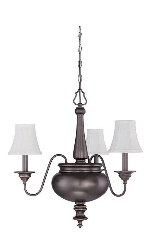 Craftmade Lighting 39623 LB Beaumont Collection Three Light Hanging Chandelier in Legacy Brass Bronze Finish