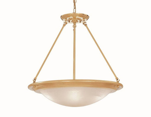 Designers Fountain Lighting 5442 PB London Hall Three Light Hanging Pendant Chandelier in Polished Brass Finish - Quality Discount Lighting