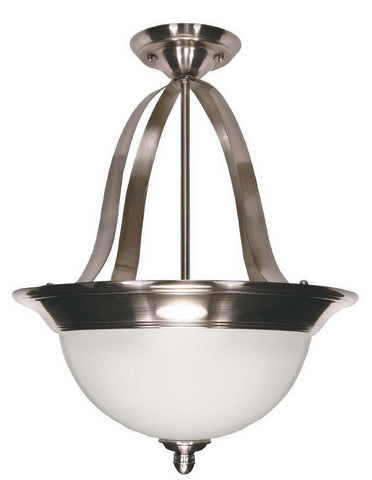 Nuvo Lighting 60-621 Palladium Collection Three Light Semi Flush or Pendant Chandelier in Smoked Nickel Finish