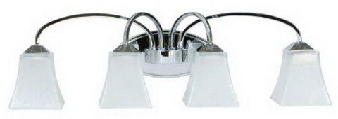 Craftmade Lighting 14229CH4 Halstead Collection Four Light Bath Vanity Wall Mount in Polished Chrome Finish