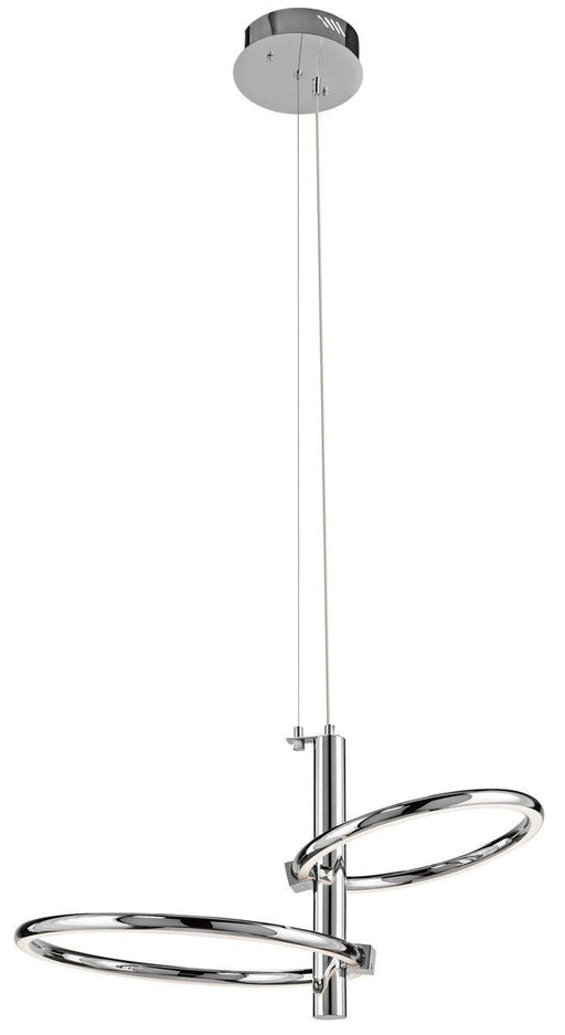 Elan by Kichler Lighting 83088 Moku Collection LED Hanging Pendant Chandelier in Polished Chrome Finish