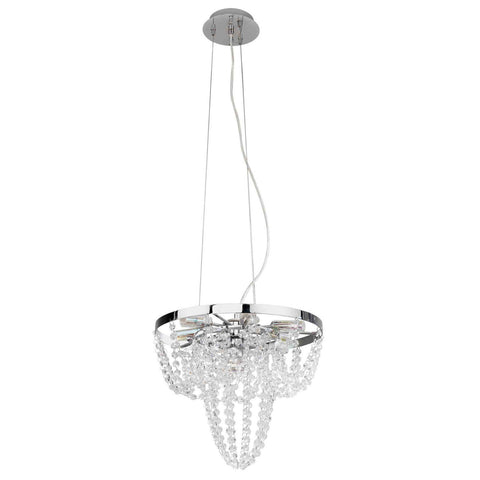 Eglo Lighting 89568A Swindon Collection Six Light Hanging Pendant Chandelier in Polished Chrome Finish - Quality Discount Lighting
