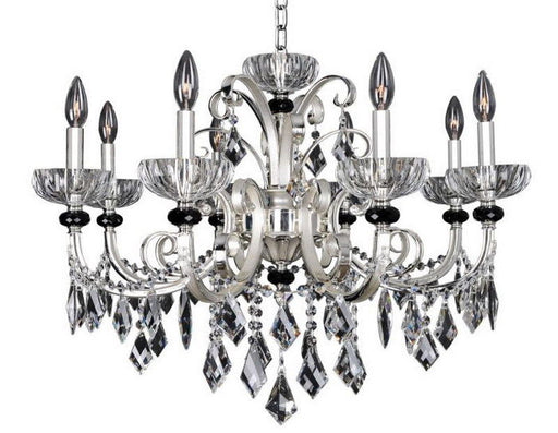 Kalco Lighting 024850-017-FR001 Gabrieli Collection Eight Light Hanging Chandelier in Two Tone Silver Finish