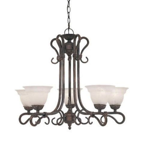 Designers Fountain Lighting 5665 MP Sevilla Collection Five Light Chandelier in Mediterranean Patina Finish - Quality Discount Lighting