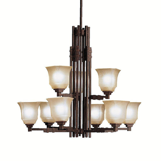Kichler Lighting 1938TZ Nine Light Silverton Collection Hanging Chandelier in Tannery Bronze Finish - Quality Discount Lighting