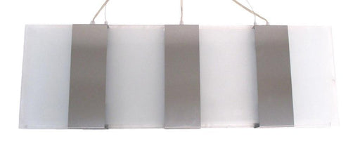 Oxygen Lighting 2-6148-24 Three Light Energy Efficient Hanging Linear Pendant Chandelier in Satin Nickel Finish