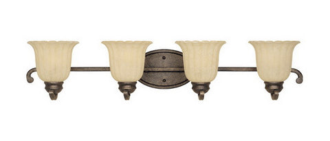 Designers Fountain Lighting 82604 FSN Radford Collection Four Light Bath Vanity Wall Mount in Forged Sienna Finish - Quality Discount Lighting