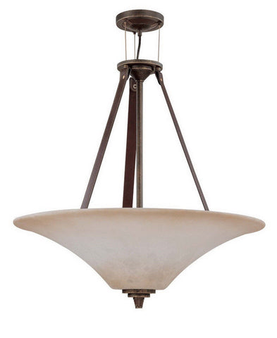 Nuvo Lighting 60-1182 Viceroy Collection Four Light Pendant Chandelier in Golden Umber Finish - Quality Discount Lighting