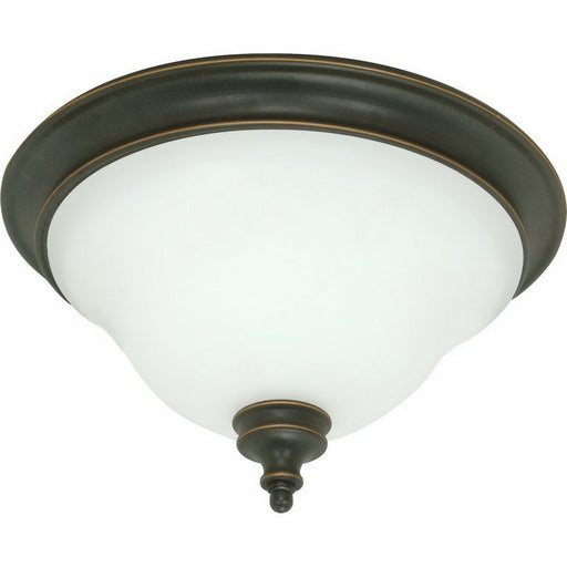 Nuvo Lighting 60-1101 Bistro Collection Two Light Flush Ceiling in Rustic Bronze Finish - Quality Discount Lighting