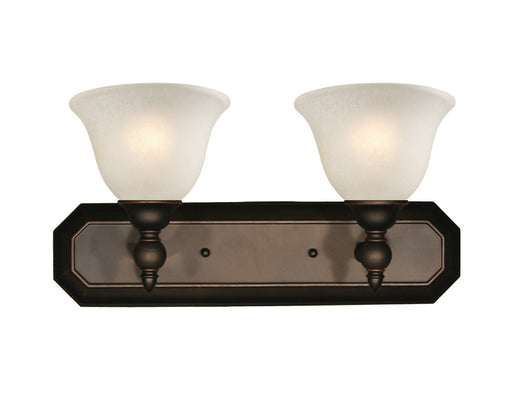 Z-Lite Lighting 904-2V Clayton Collection Two Light Bath Vanity Wall Mount in Bronze Finish