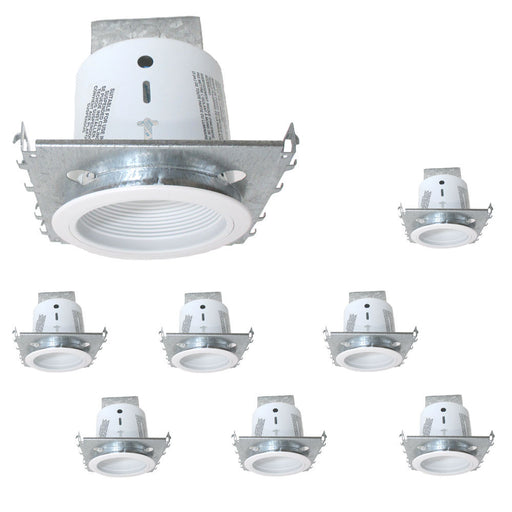"Designers Fountain Lighting RK502 8 PACK of 5"" New Construction or Remodel Non IC Recessed Can and Baffle Trim in White Finish - Quality Discount Lighting"