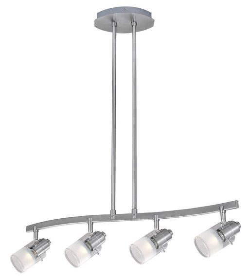 Eglo Lighting 20482A Aversa Collection Four Light Island Pendant Chandelier in Matte Nickel Finish - Quality Discount Lighting