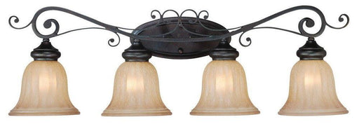 Craftmade Lighting 25804 SI Lagrange Collection Four Light Bath Vanity Wall Mount in Seville Iron Finish