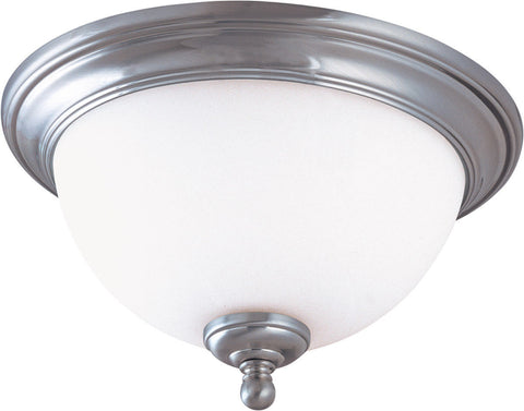 Nuvo Lighting 60-2564 Glenwood Collection One Light Energy Star Rated GU24 Fluorescent Flush Ceiling Mount in Brushed Nickel Finish - Quality Discount Lighting