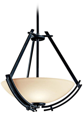 Aztec 34991 by Kichler Lighting Natallia Collection Three Light Hanging Pendant Chandelier in Distressed Black Finish - Quality Discount Lighting