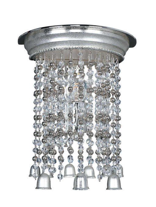 Kalco Lighting 026620-017-FR0010 Clare One Light Wall Sconce in Two Tone Silver Finish