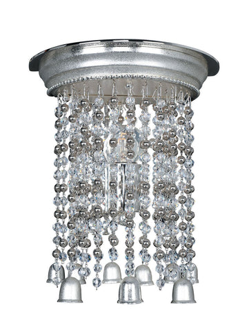 Kalco Lighting 026620-017-FR0010 Clare Collection One Light Wall Sconce in Two Tone Silver Finish