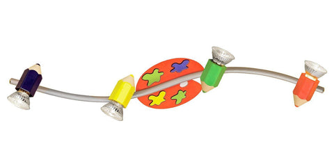 Eglo Lighting 87356A Jolly Collection Four Light Children's Ceiling Track in Multi-Colored Finish - Quality Discount Lighting