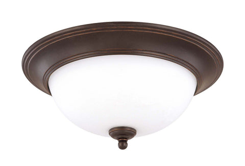 Nuvo Lighting 60-2436 Glenwood Collection Two Light Energy Star Rated GU24 Fluorescent Flush Ceiling Mount in Sudbury Bronze Finish - Quality Discount Lighting