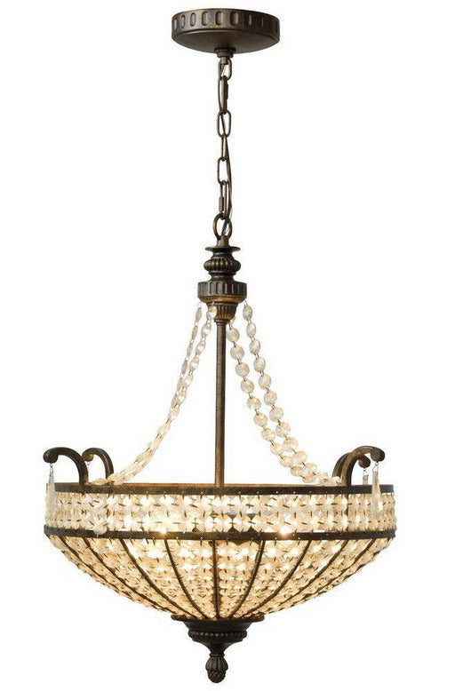 Craftmade Lighting 5522PR3 Cortana Collection Three Light Pendant Chandelier in Peruvian Bronze Finish