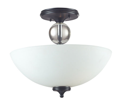 Z-Lite Lighting 604-SF Harmony Collection Three Light Semi Flush Ceiling Mount in Matte Black Finish