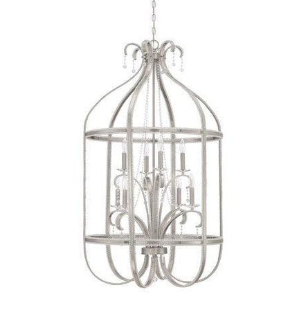 Craftmade Lighting 38538 BNK Andrianna Collection Eight Light Pendant Chandelier in Brushed Polished Nickel Finish