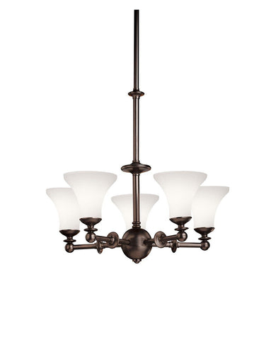 Kichler Lighting 1627 OAU Hamden Collection Five Light Chandelier in Olde Auburn Finish - Quality Discount Lighting
