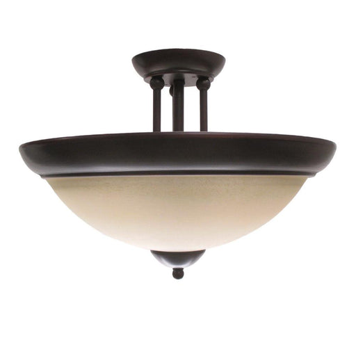 Trans Globe Lighting 2213 RB Two Light Semi Flush Ceiling Fixture in Rustic Bronze Finish