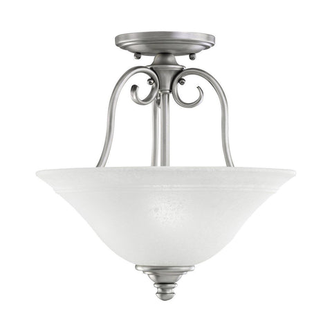 Aztec by Kichler Lighting 38907 Two Light Northampton Collection Semi Flush Ceiling Fixture in Antique Pewter Finish - Quality Discount Lighting