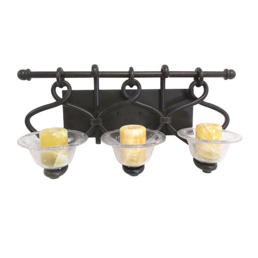 Kalco Lighting 2723HB Edmonton Collection Three Light Bath Vanity Wall Mount in Heirloom Bronze Finish - Discount Lighting Fixtures