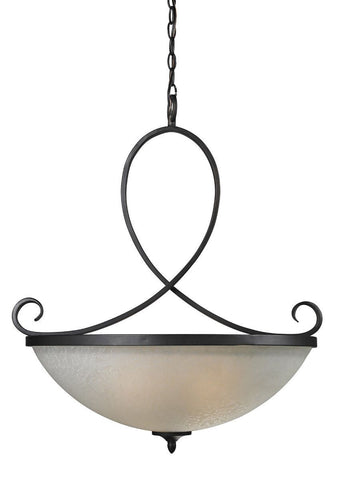 Z-Lite Lighting 603-P Arshe Collection Three Light Hanging Pendant Chandelier in Café Bronze Finish