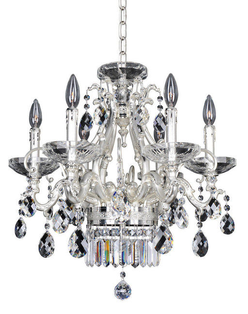 Kalco Lighting 024654-017-FR001 Rossi Collection Six Light Hanging Chandelier in Two Tone Silver Finish