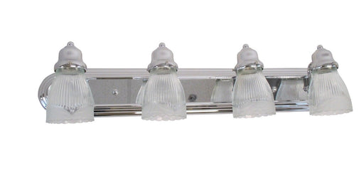 Craftmade Lighting 11730CH-G112 Four Light Bath Vanity Wall Mount in Polished Chrome Finish