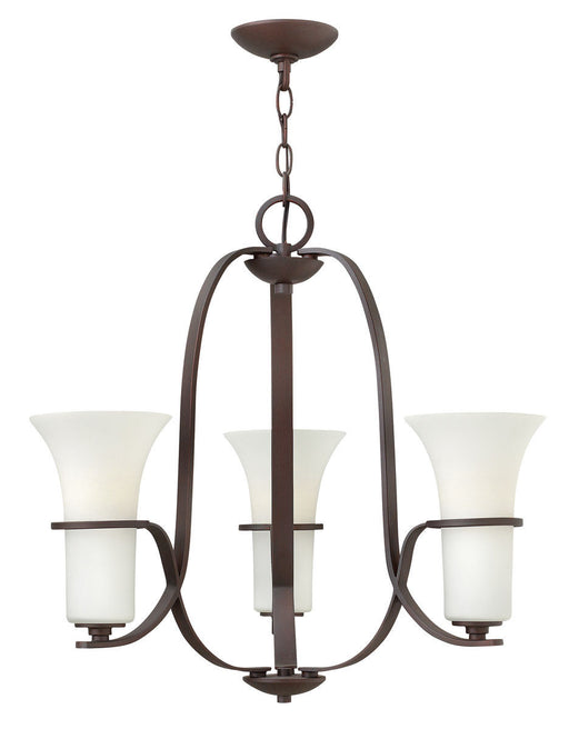 Hinkley Lighting 4063 VZ Lauren Collection Three Light Hanging Chandelier in Victorian Bronze Finish