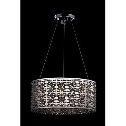 Kalco Lighting 10268-010-FR001 Berkley Collection Eight Light Hanging Pendant Chandelier in Polished Chrome Finish