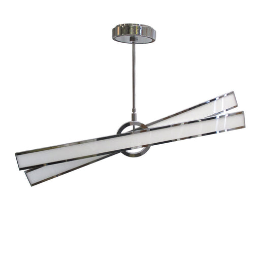 Nuvo Lighting Geocentric 62-291 One Eighty Series Hanging Suspension LED Luminaire in Polished Chrome Finish - Quality Discount Lighting