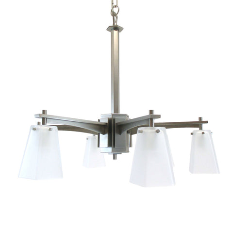 Kalco Lighting 4456 SN Pasadena Collection Six Light Chandelier in a Satin Nickel Finish - Quality Discount Lighting