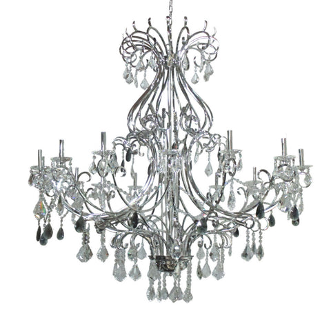 Kichler Lighting 34380 Twenty Eight Light Chandelier in Chrome Finish - Quality Discount Lighting