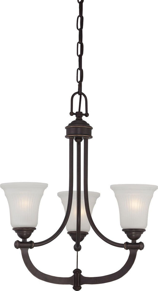 Nuvo Lighting 60-5316 Monroe Collection Three Light Hanging Chandelier in Georgetown Bronze Finish