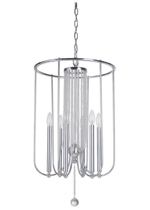 Craftmade Lighting 40636 CH Cascade Collection Six Light Hanging Pendant Chandelier in Polished Chrome Finish