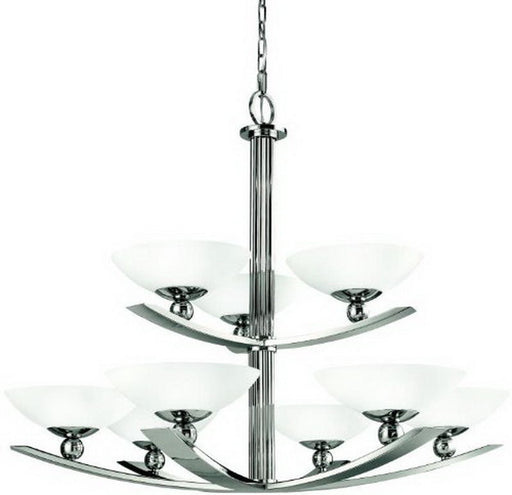 Aztec 34667 by Kichler Lighting Nine Light Palla Hanging Chandelier in Polished Nickel Finish - Quality Discount Lighting