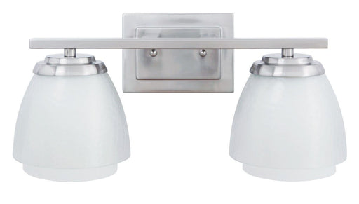 Craftmade Lighting 14617 BNK2 Piedmont Collection Two Light Bath Vanity Wall Mount in Brushed Polished Nickel Finish